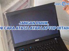 Layar Laptop Hitam